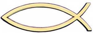 Car Emblem: Fish Gold