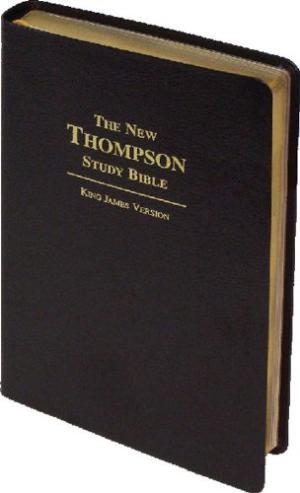 KJV New Thompson Study Bible Bonded Leather Black & Gold