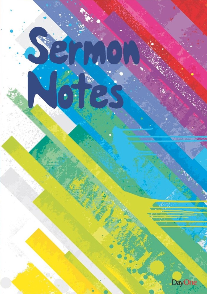 Sermon Notes Stripy Cover