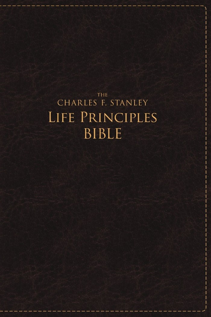 NASB Charles F. Stanley Life Principles Bible, Large Print
