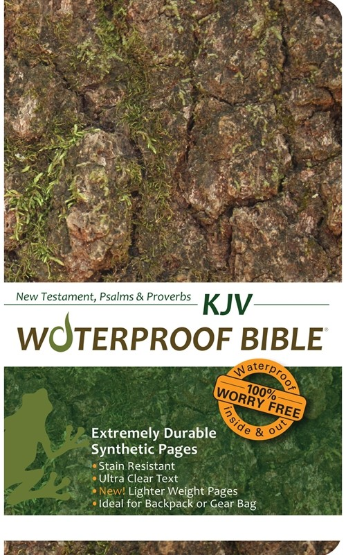 KJV Waterproof Bible New Testament, Psalms & Proverbs Camo