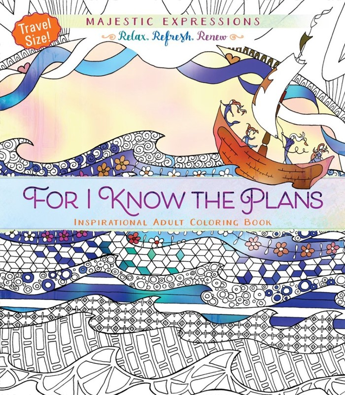 For I Know The Plans (Travel Size) Colouring Book