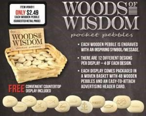 Woods of Wisdom Pocket Pebbles Pack of 48