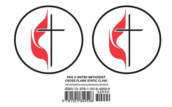 United Methodist Cross & Flame Static Cling (Pkg of 2)