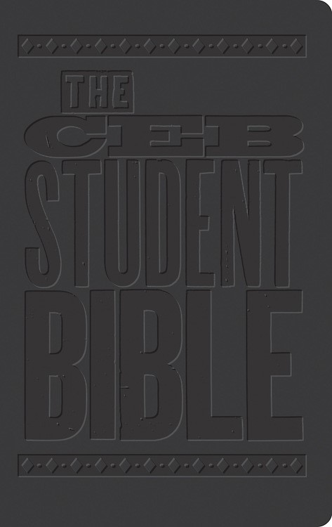 CEB Student Bible Black Decotone