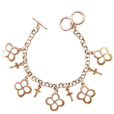 Faith Gear Women's Bracelet - Swirl Cross Gold