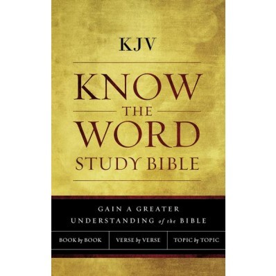 KJV Know The Word Study Bible, Cloth Over Board, Red Letter