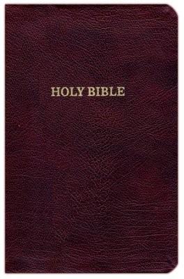 KJV Thinline Reference Bible, Burgundy, Red Letter Ed.