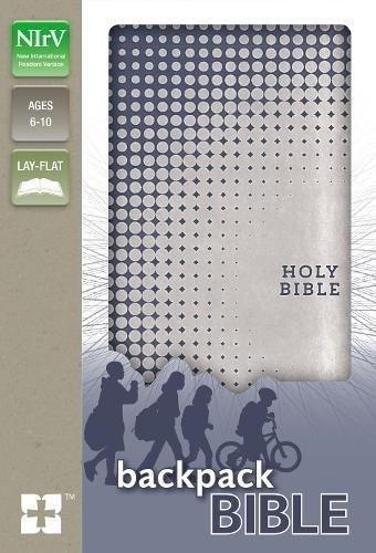 NIrV Backpack Bible, Blue/Silver