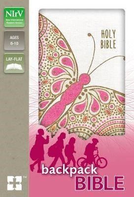 NIrV Backpack Bible, Pink Butterfly