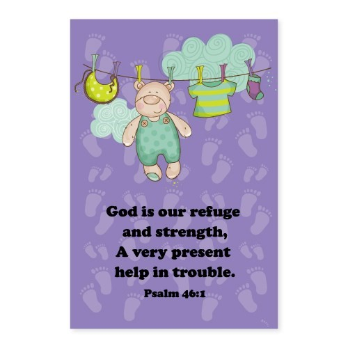 Memo Pad Happy Teddy Psalm 46