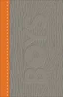CSB Study Bible For Boys Charcoal/Orange, Wood Design
