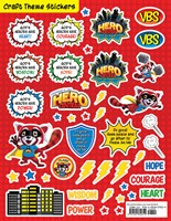 VBS Hero Central Craft Theme Stickers (Pack of 12) (Stickers)