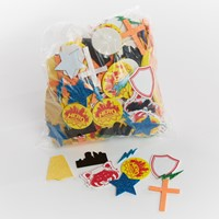 VBS Hero Central Stay Put Glitter Stickers (Stickers)