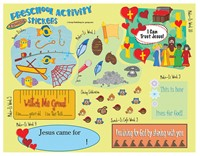 FaithWeaver Friends Preschool Activity Stickers Spring 2018 (Stickers)