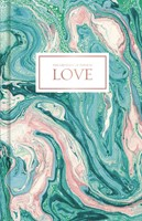 Love-Pink and Teal Marble, Journal (Hard Cover)