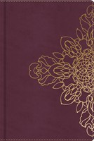 Burgundy with Floral Motif, Journal (Imitation Leather)