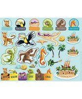 VBS Shipwrecked Sticker Sheets (Pack of 10) (Stickers)