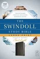 The NLT Swindoll Study Bible, Large Print, Black