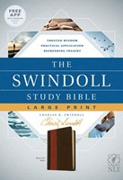 The NLT Swindoll Study Bible, Large Print, Brown