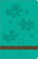 GW Thinline Bible Turquoise/Brown, Flower Design Duravella (Leather Binding)