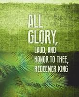 All Glory Palm Sunday Images Bulletin, Large (Pkg of 50) Lar (Loose-leaf)