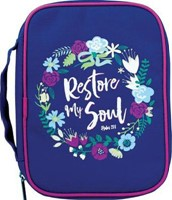 Bible Cover Restore My Soul Canvas Large
