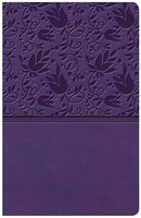 KJV Large Print Personal Size Reference Bible, Purple Leathe