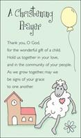 Christening Prayer Prayer Cards, A