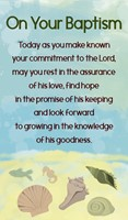 On Your Baptism Prayer Cards