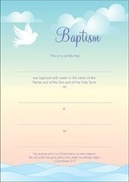 Baptism Certificate (Pack of 10)