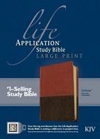 KJV Life Application Study Bible Large Print, Indexed (Imitation Leather)