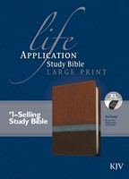KJV Life Application Study Bible Large Print, Indexed (Leather Binding)