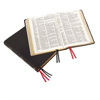 Large Print Westminster Reference Bible, Black Calfskin (Genuine Leather)