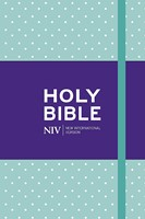NIV Pocket Mint Polka-Dot Notebook Bible (Hard Cover)