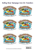 VBS 2018 Rolling River Rampage Iron-On Transfers (Stickers)