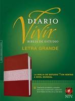 Biblia de estudio del diario vivir NTV, letra grande (Leather Binding)