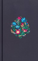 CSB Personal Size Bible, Navy Floral Embroidered (Hard Cover)