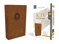 KJV Thinline Bible, Youth Edition, Brown, Red Letter (Imitation Leather)