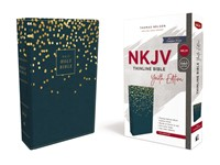 NKJV Thinline Bible, Youth Edition, Blue, Red Letter (Imitation Leather)