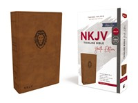 NKJV Thinline Bible, Youth Edition, Brown, Red Letter (Imitation Leather)