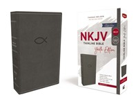 NKJV Thinline Bible, Youth Edition, Gray, Red Letter (Imitation Leather)