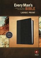 NLT Every Man's Bible Large Print Tutone Black/Onyx