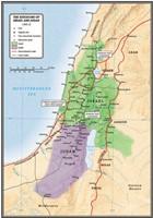 The Kingdoms Of Israel And Judah Map (Wall Chart)