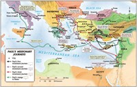 Paul's Missionary Journeys Map (Wall Chart)