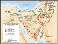 The Route Of The Exodus Map