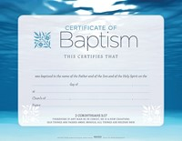 Baptism Blue Certificate (Pack of 6)