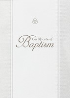 Baptism Parchment Paper Folded Certificate (Pack of 6) (Certificate)