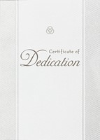 Dedication Parchment Paper Folded Certificate (Pack of 6) (Certificate)