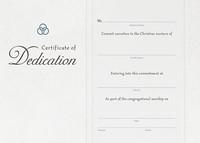 Dedication Certificate (Pack of 6) (Certificate)